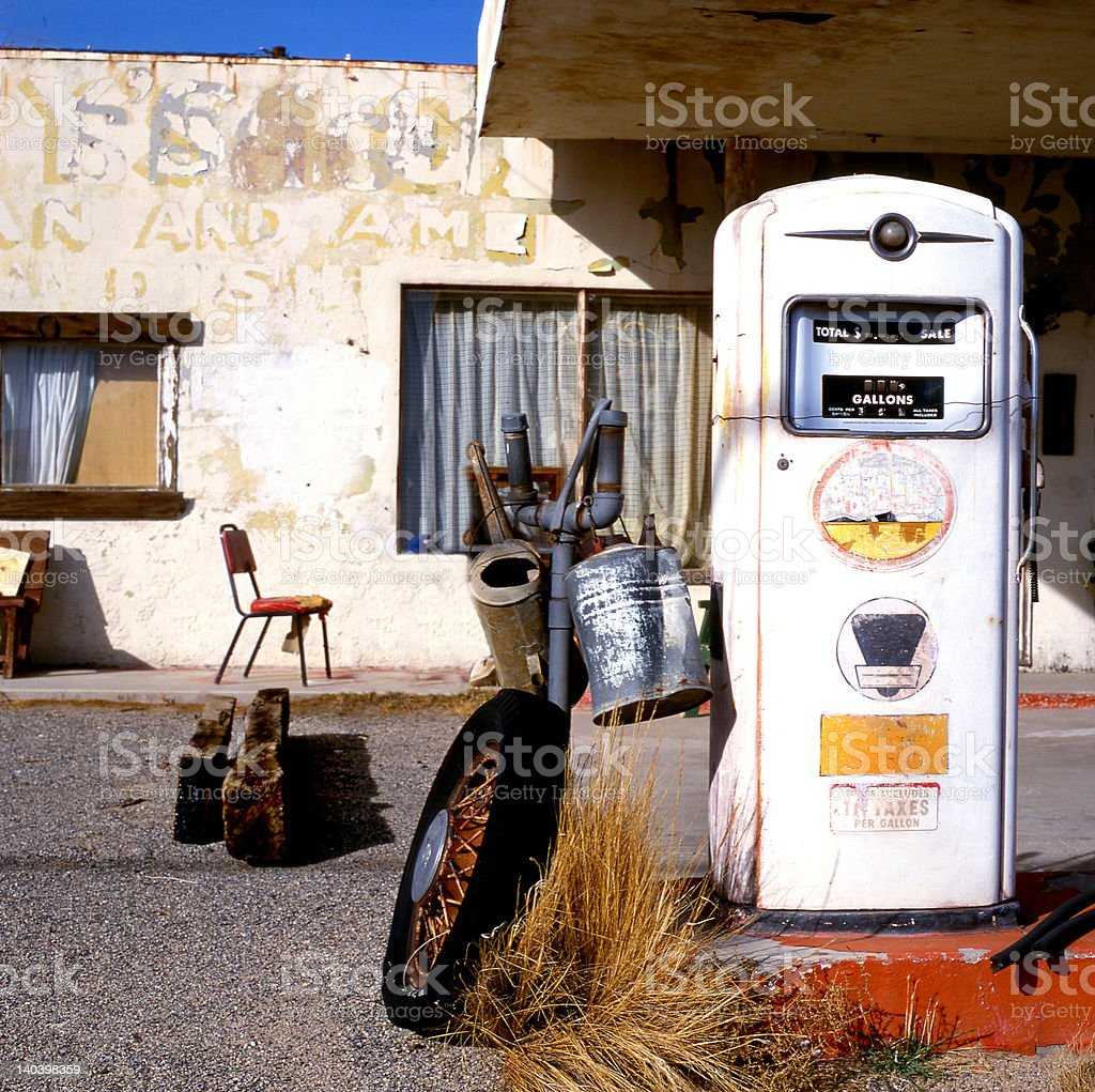 Old Gas Pump At Route 66 Stock Photo - Download Image Now - iStock