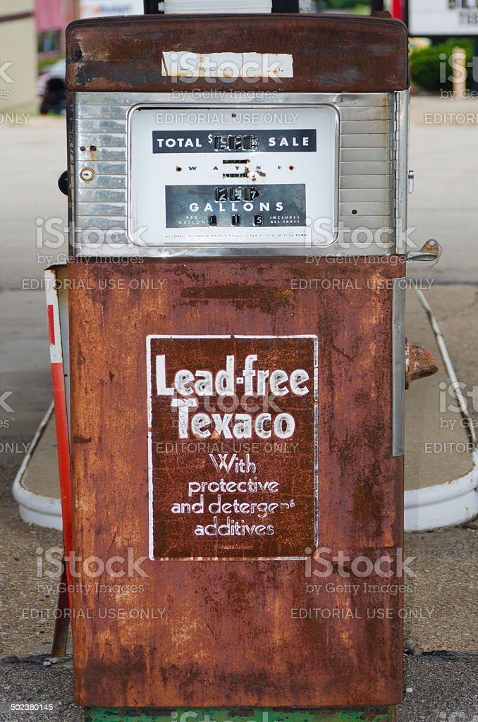 Old Gas Pump On Route 66 Stock Photo - Download Image Now