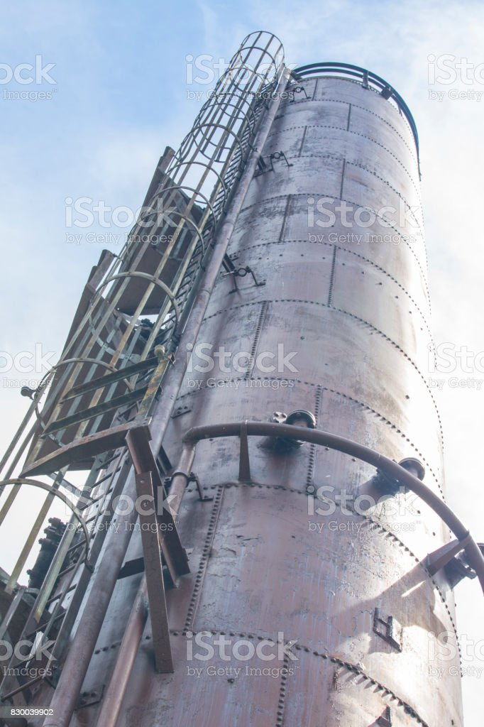 old gas refining factory gasworks - Stock image stock photo