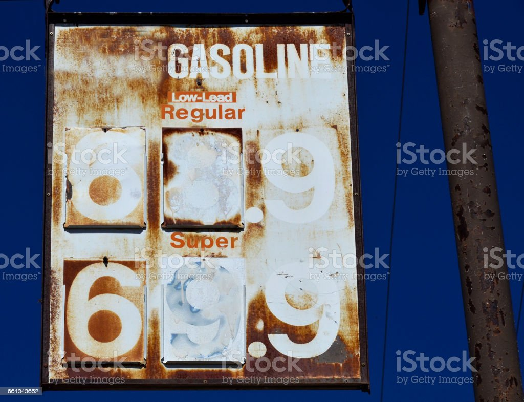Old gas sign stock photo