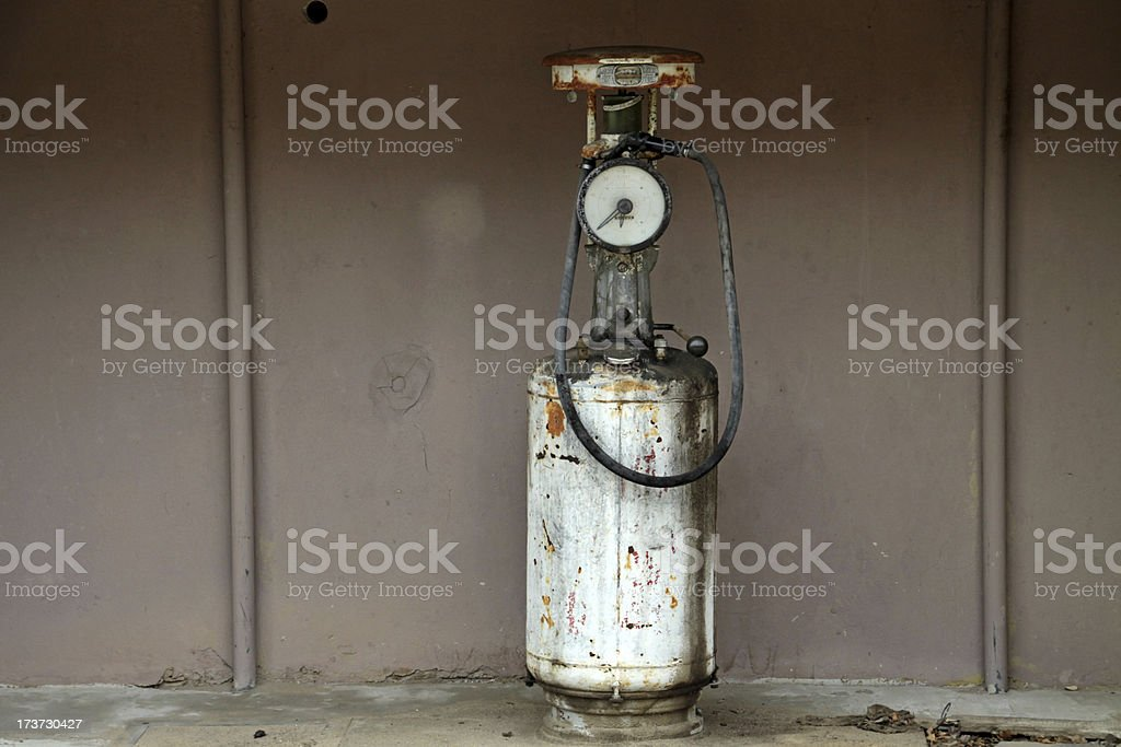 Old gasoline pump stock photo