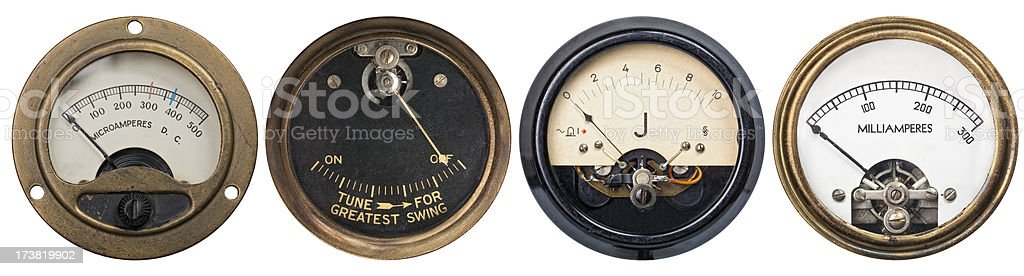 Old Gauges royalty-free stock photo