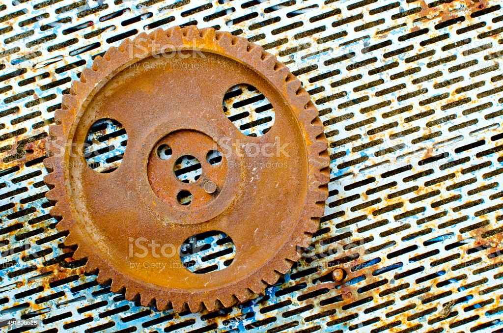 old gear and rust backgrounds stock photo