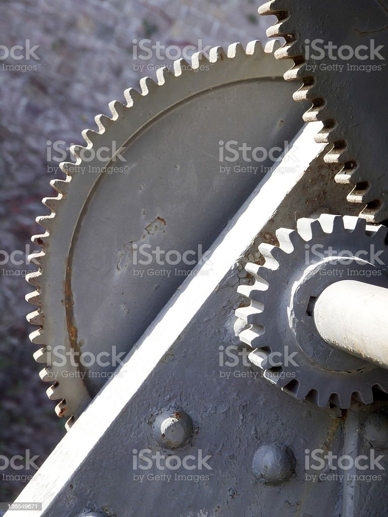 Old Gear stock photo