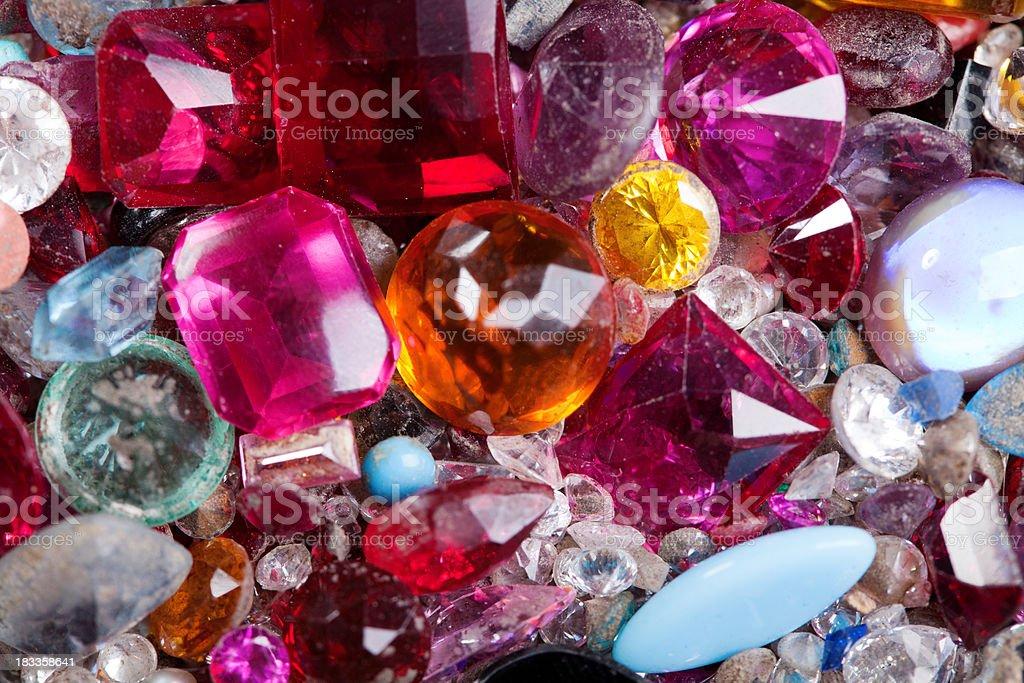 Old gem stones stock photo