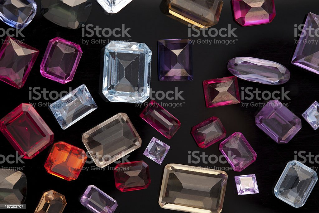 Old gem stones stock photo