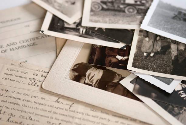 古老家譜家族史照片和檔1 - 摄影 個照片及圖片檔
