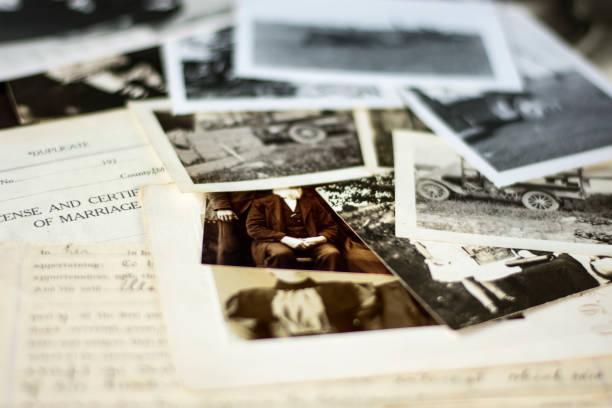 古老家譜家族歷史照片和檔2 - 族譜 個照片及圖片檔