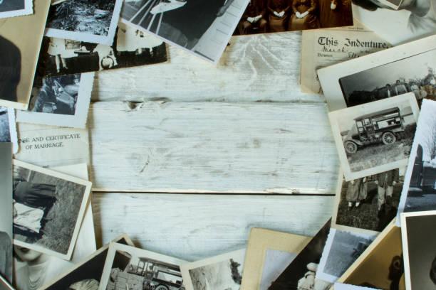 舊家譜家族歷史照片和檔白木中心空間 - 族譜 個照片及圖片檔