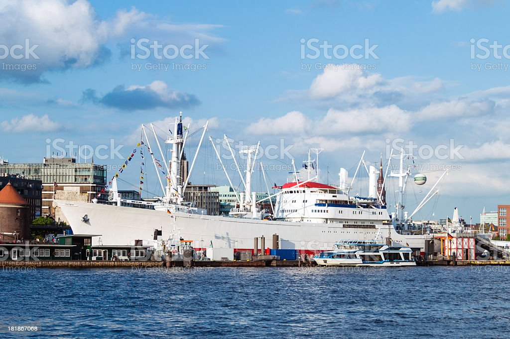 Old General Cargo Freighter royalty-free stock photo