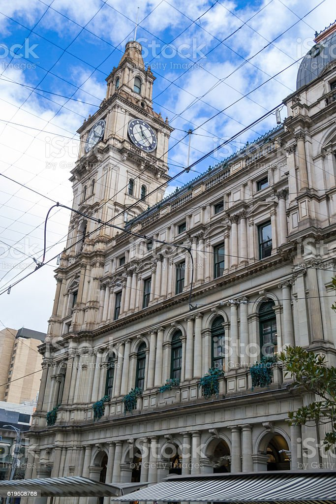 Old general post office in Melbourne CBD stock photo