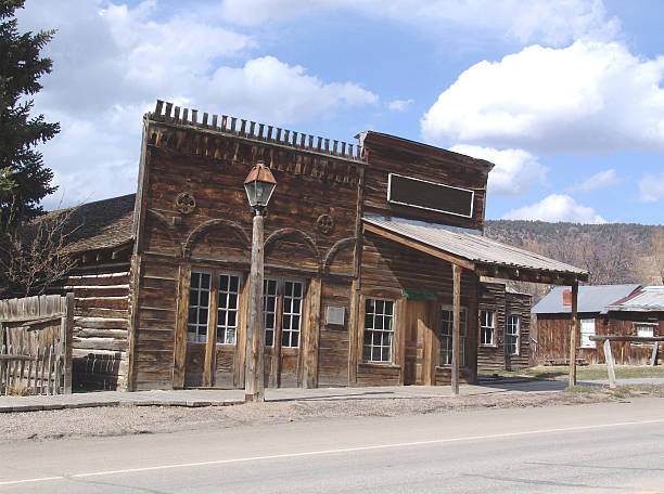 old general store - western town stock photos and pictures