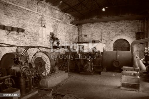 Old electric generator room, dated by 1910.