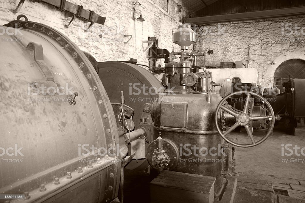 Old generator room royalty-free stock photo