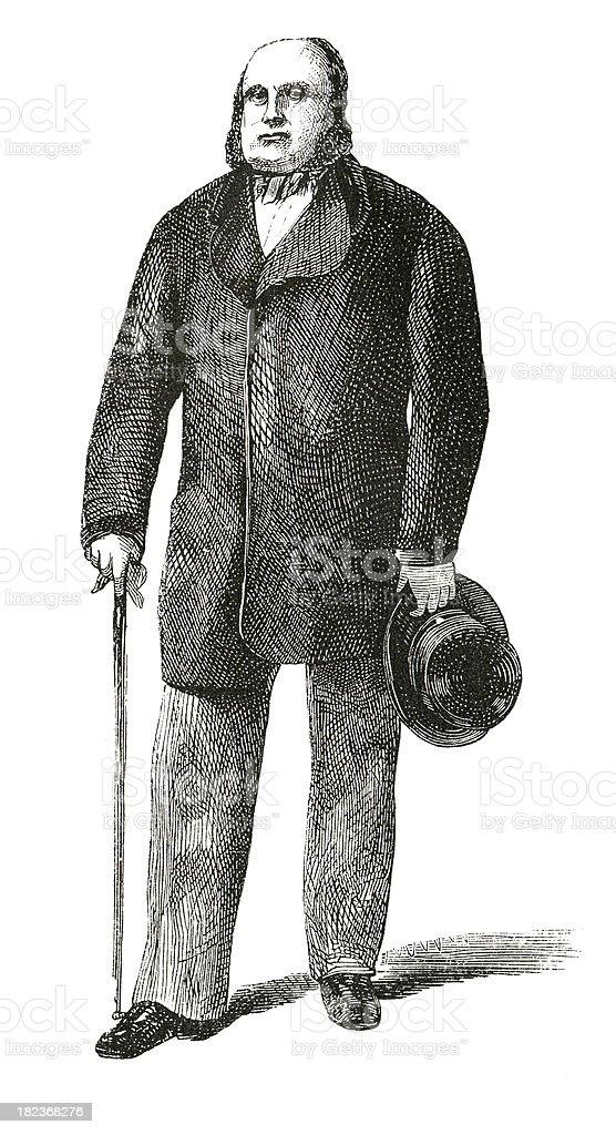 Old Gentleman Victorian Engrave stock photo