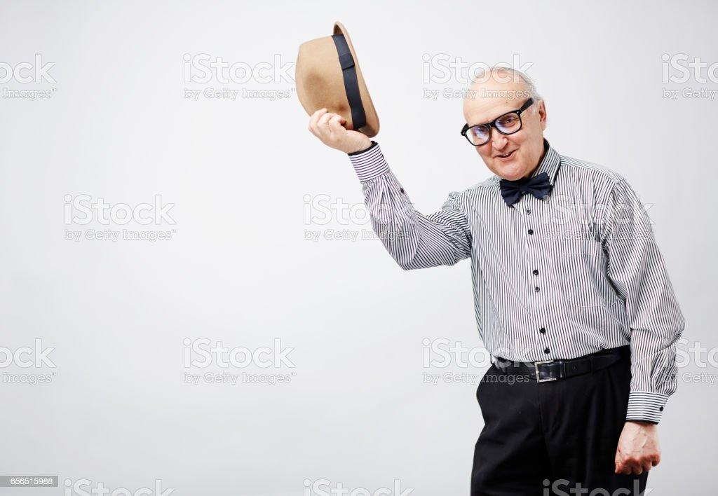 Old gentleman with manners - foto de stock