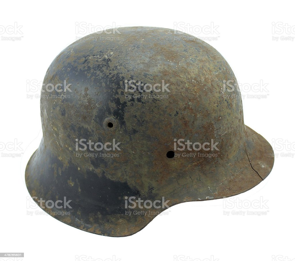 Vieux casque allemand ww2 royalty-free stock photo