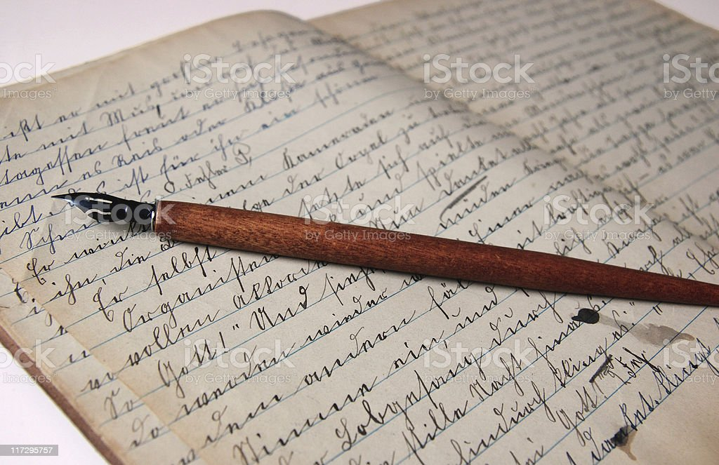 Old German Letters royalty-free stock photo