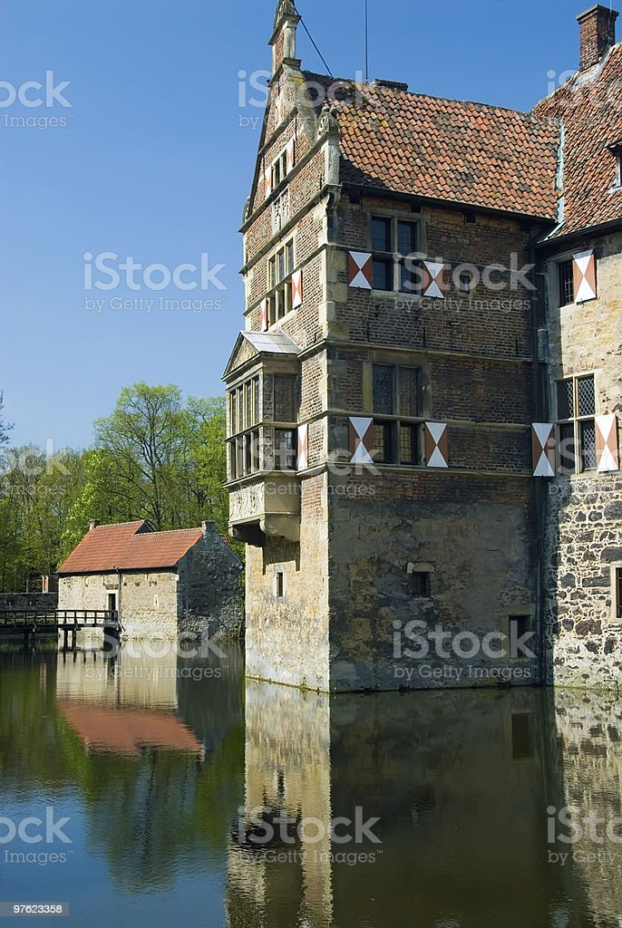 Old German moated castle royalty-free stock photo