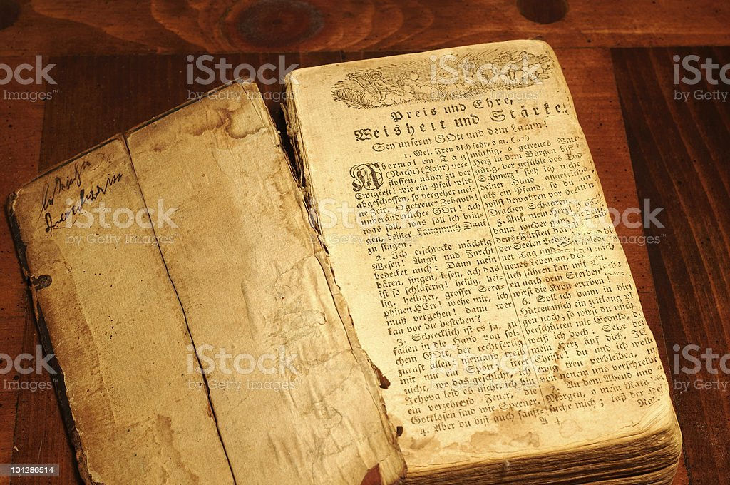 Old German prayer book stock photo