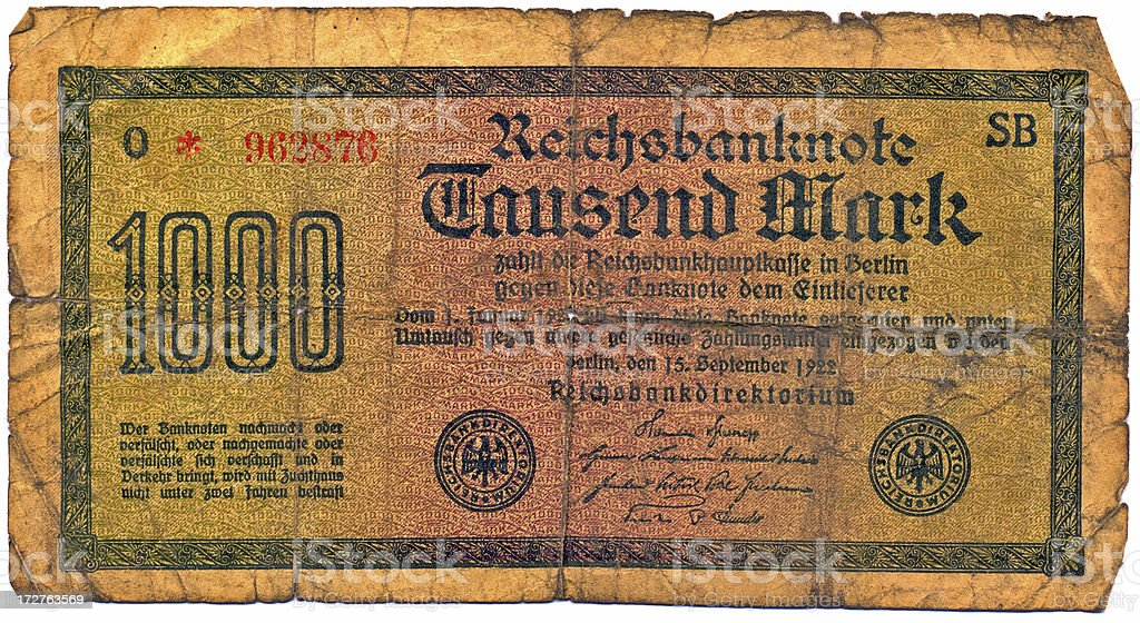 Old German Reichsmark royalty-free stock photo