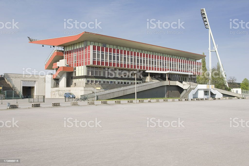 Old German Soccer Clubhouse in Berlin royalty-free stock photo