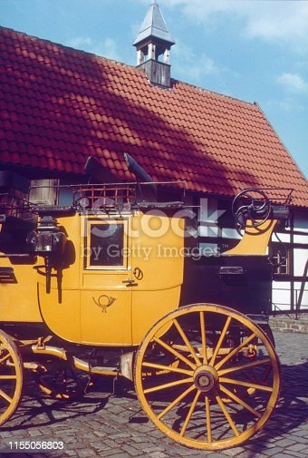 Lower Bavaria, Germany, 1969. Old German stagecoach.