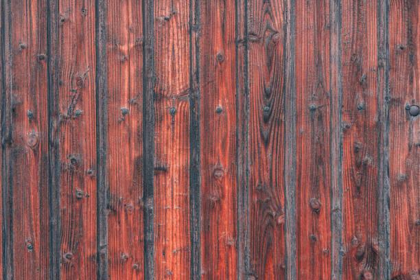 Old German wooden door texture (dark brown wood) stock photo