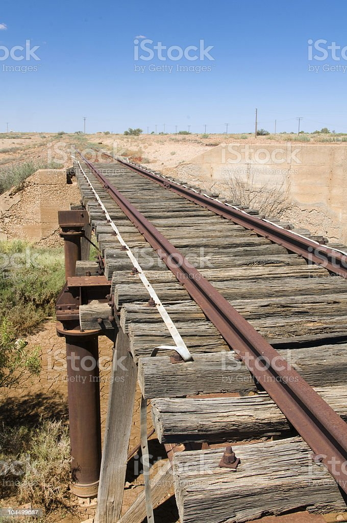 Old Ghan Railway by the Oodnadatta Track stock photo