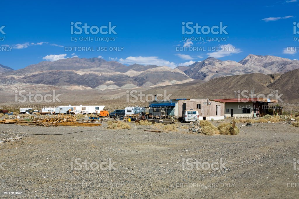 old Ghost town and former Gold Town of Ballarat stock photo