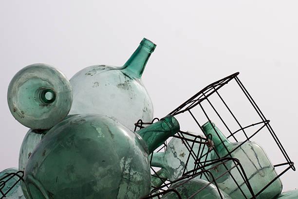 Alte Glas-Flaschen – Foto