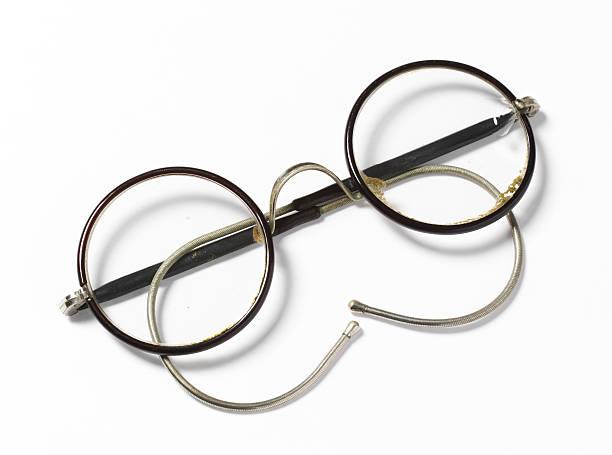 old glasses stock photo