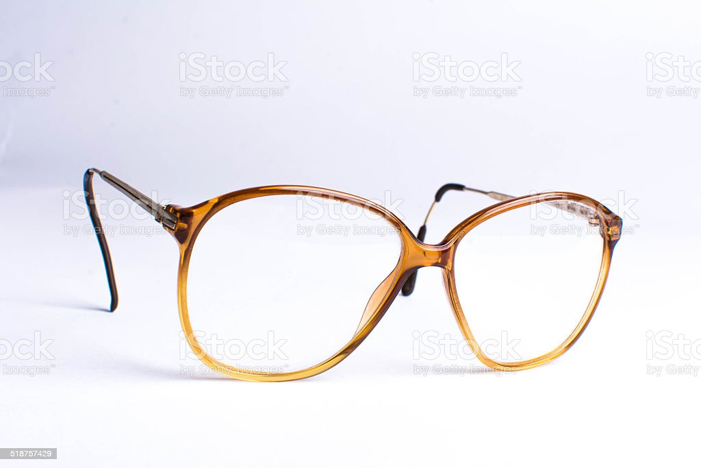 Old glasses stock photo