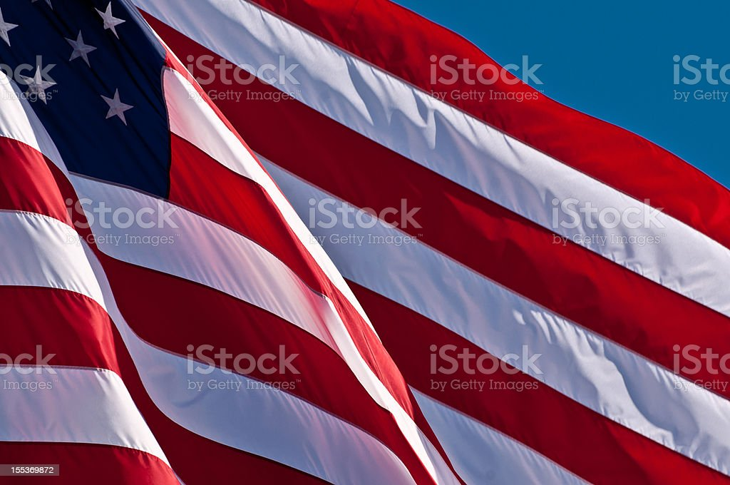 Old Glory Outside royalty-free stock photo