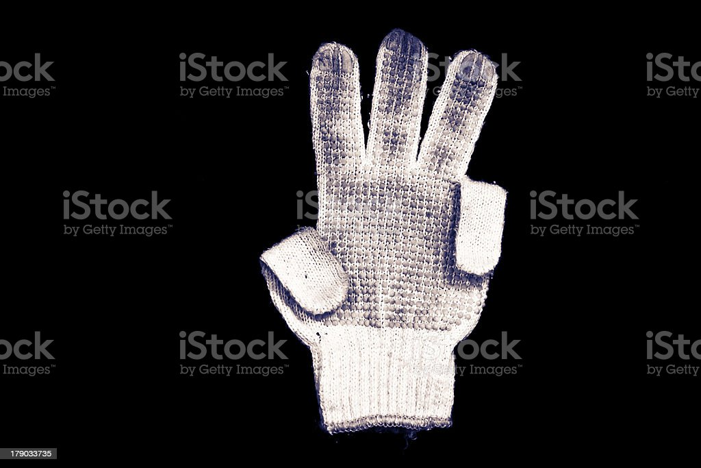 Old gloves. royalty-free stock photo