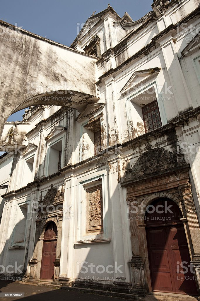 Old Goa Architecture royalty-free stock photo