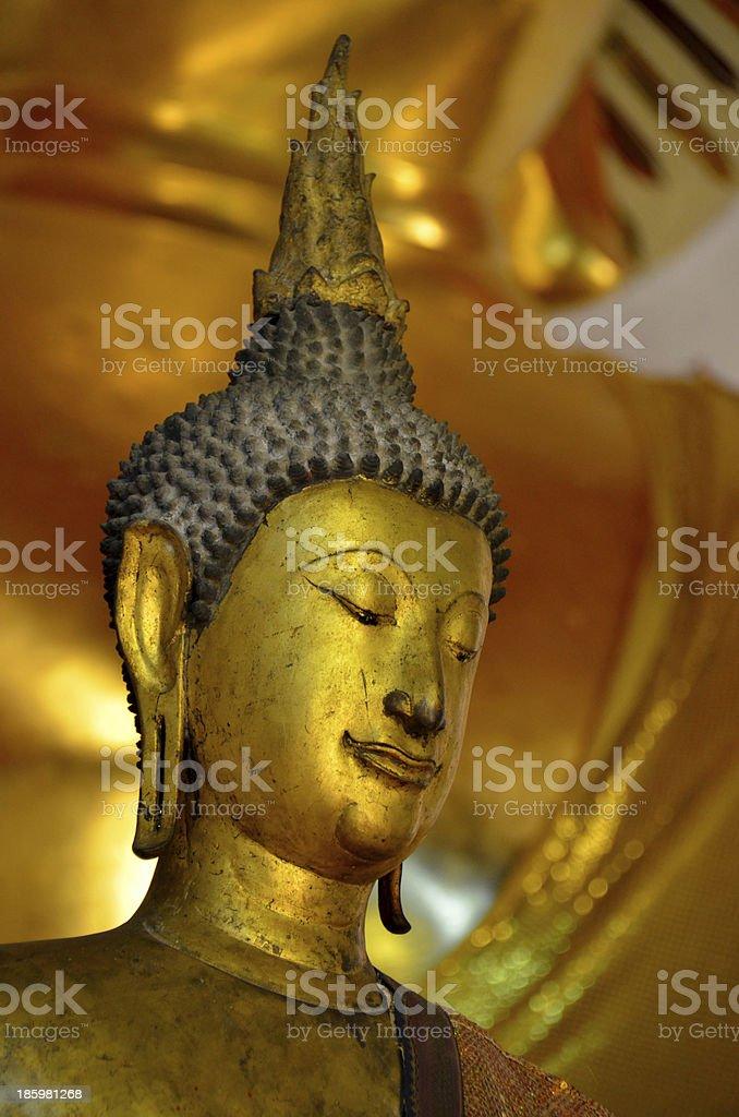 Old gold Buddha royalty-free stock photo