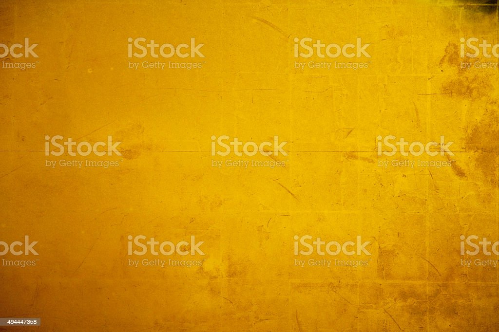 Old gold folding screen paper stock photo