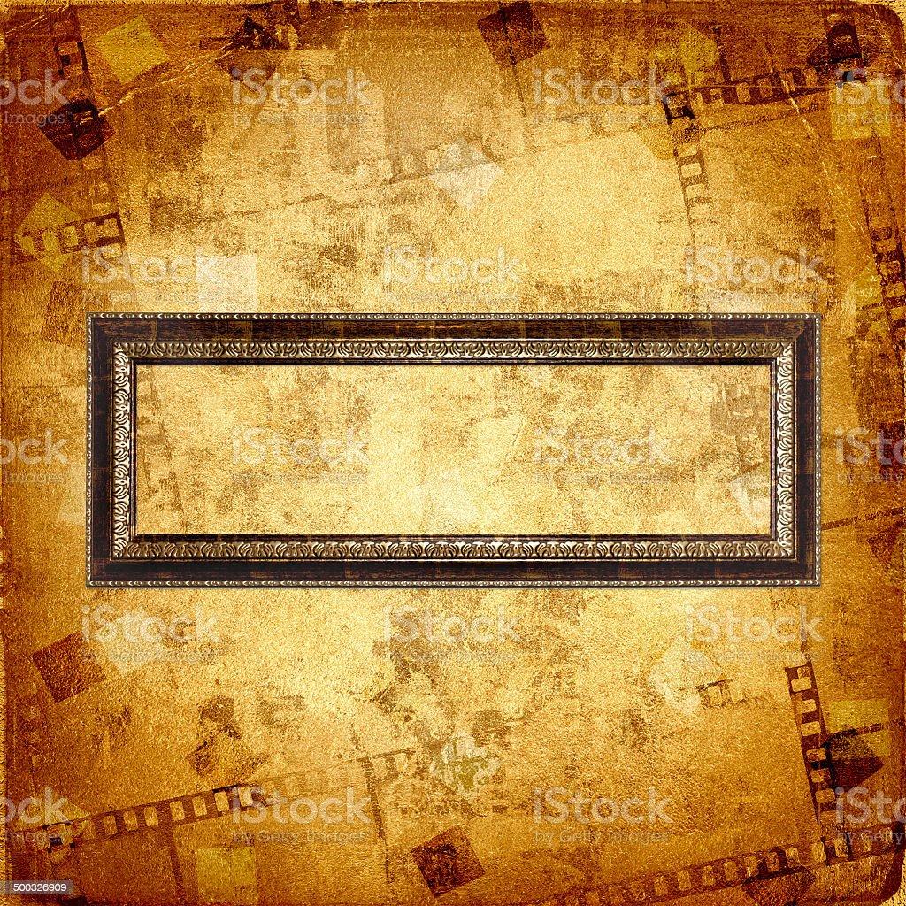 Fotografía de Antiguo Marco De Oro Sobre El Fondo Abstracto y más ...