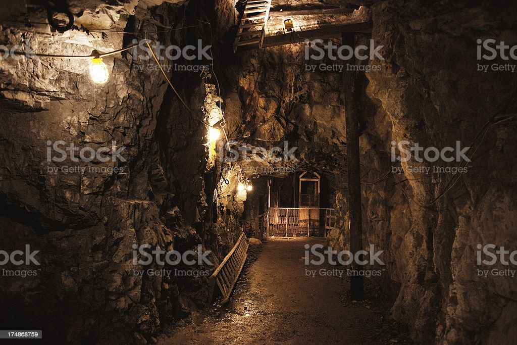 Old Gold Mine Interior royalty-free stock photo
