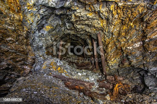 Tunnel in an old gold mine