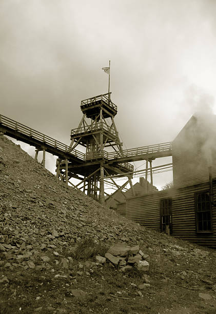Old Gold mine stock photo