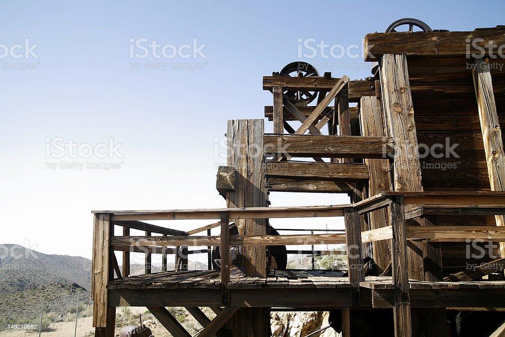 Old Gold Mine stock photo
