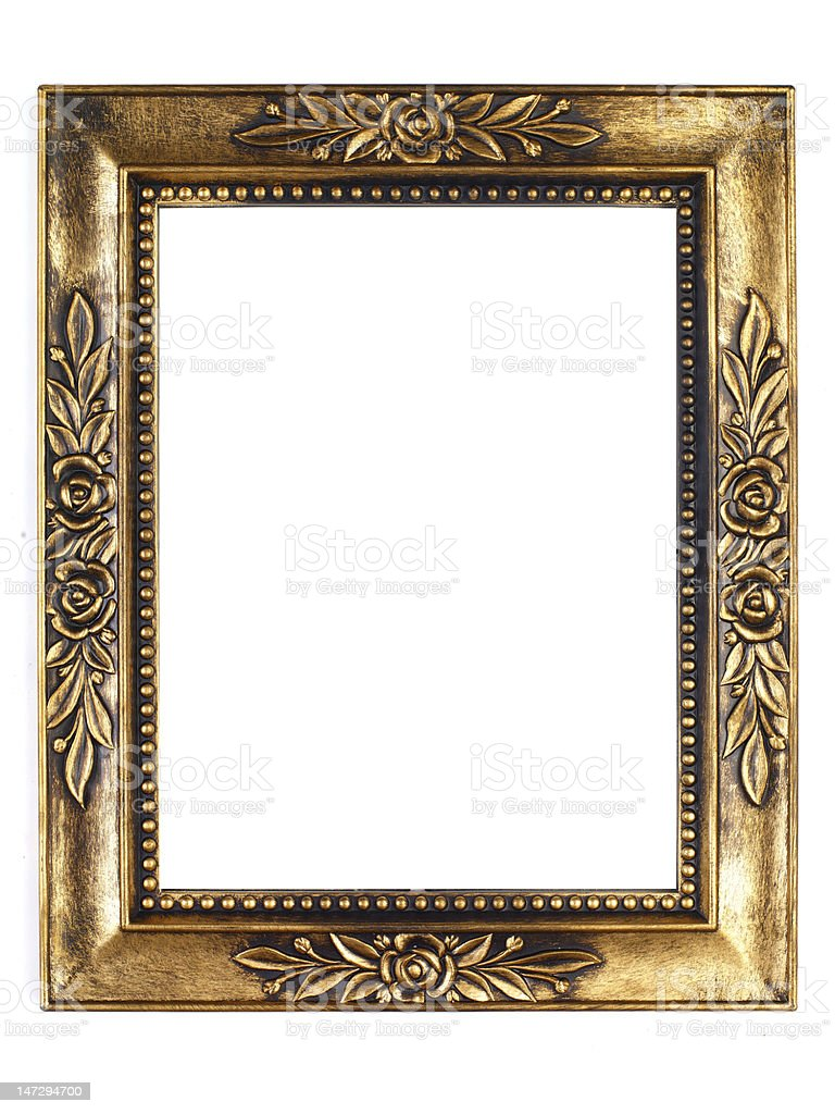 Old Gold Picture Frame royalty-free stock photo