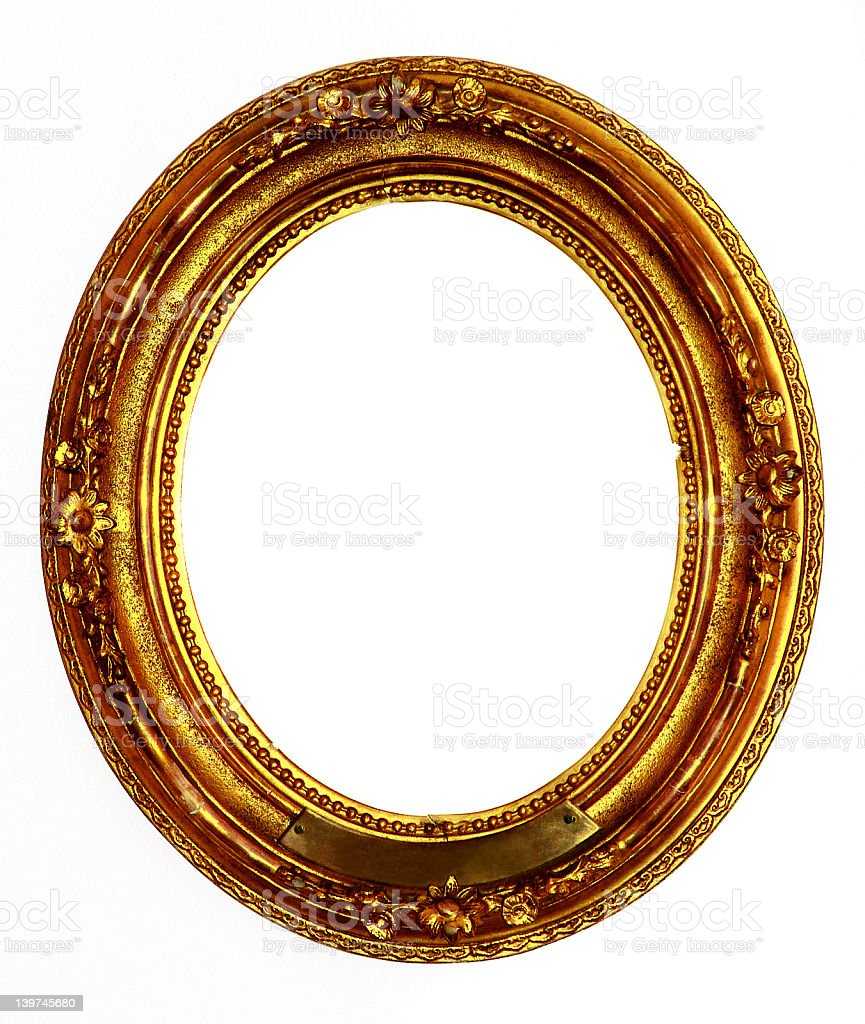 Old golden frame royalty-free stock photo