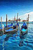 Old Gondolas In Venice, Italy