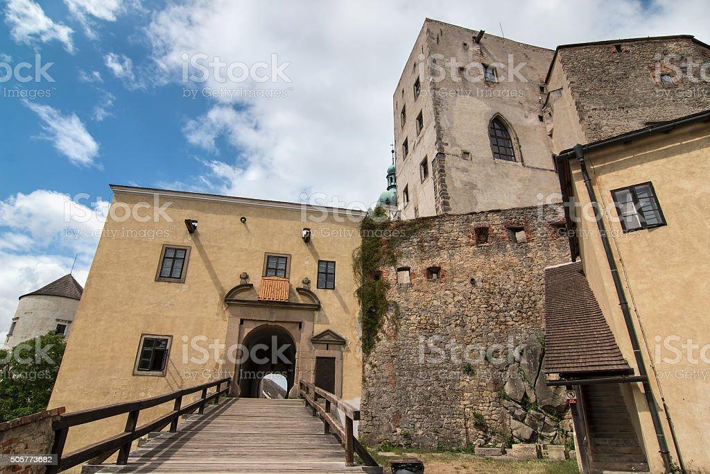 Old Gothic castle Buchlov in Czech republic stock photo