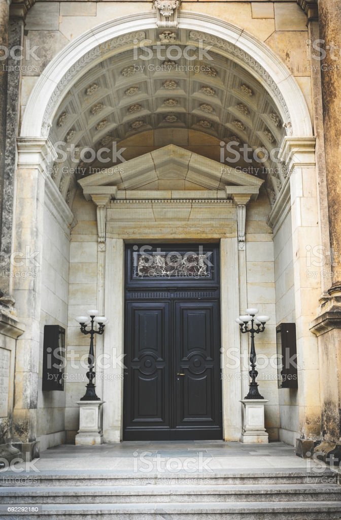 Old gothic door. Luxurious old building in Dresden royalty-free stock photo & Old Gothic Door Luxurious Old Building In Dresden stock photo   iStock pezcame.com