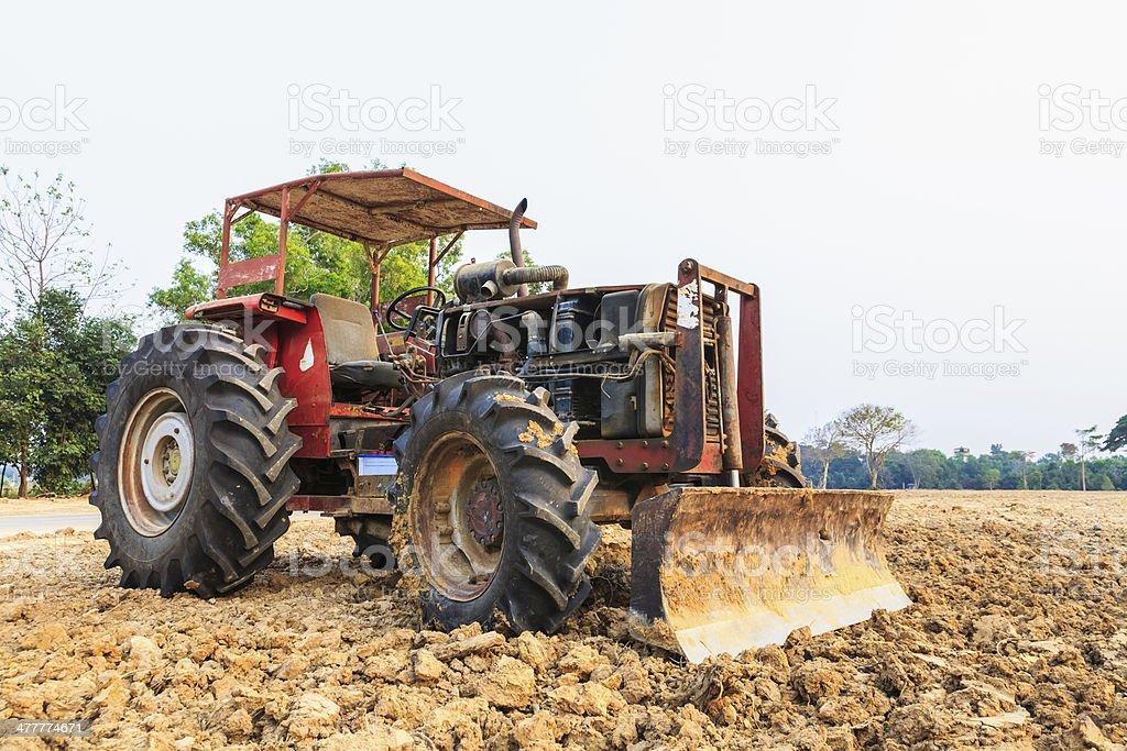 Old grader bulldozer royalty-free stock photo