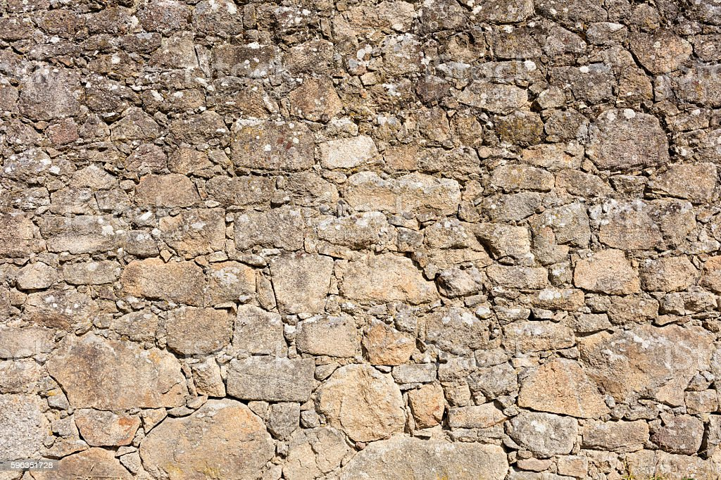 old granite stone wall royalty-free stock photo